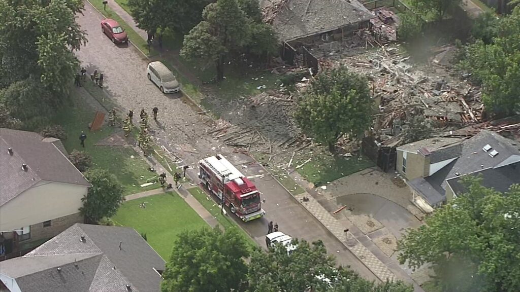 Aftermath of Plano home explosion